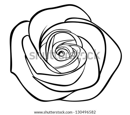 Rose Outline Stock Images Royalty Free Images amp Vectors