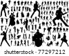 Black silhouettes of musicians - stock vector