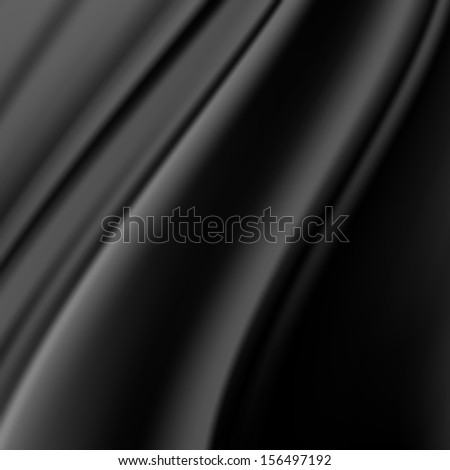 Black Silk Fabric for Drapery Abstract Background - stock photo