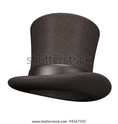 Black Silk Hat - stock photo
