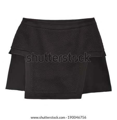 black skirt isolated