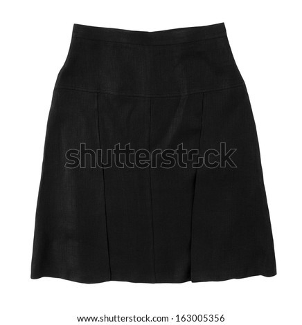 black skirt isolated on white background
