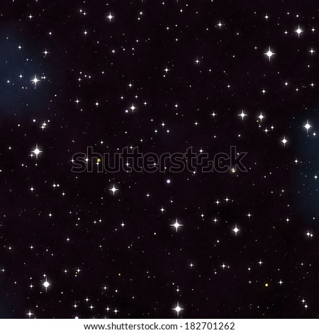 black sky and stars - stock photo