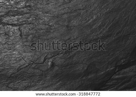 Black slate rock for design website, wallpaper, backgrounds  - stock photo