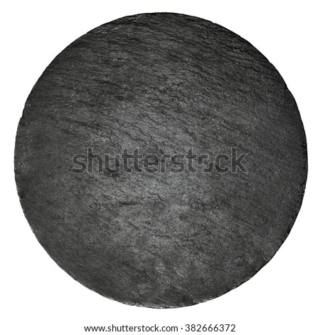 Black slay tray for food on the white background - stock photo