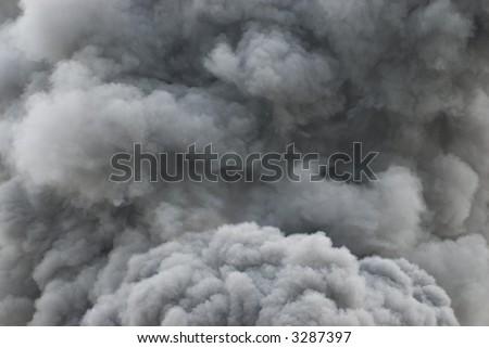 Black smoke cloud series - 03 - stock photo