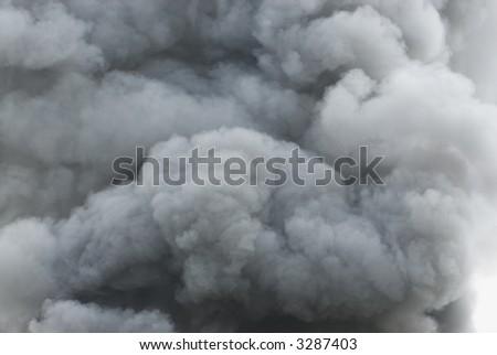 Black smoke cloud series - 09 - stock photo