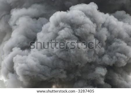 Black smoke cloud series - 11 - stock photo