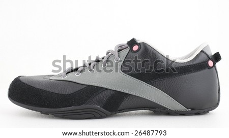 black sneaker - stock photo