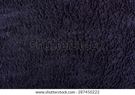 Black soft towel surface pattern - stock photo