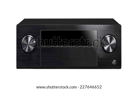 Black sound system - stock photo