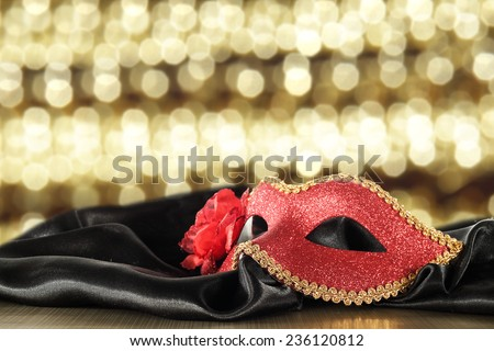 black space and red mask  - stock photo