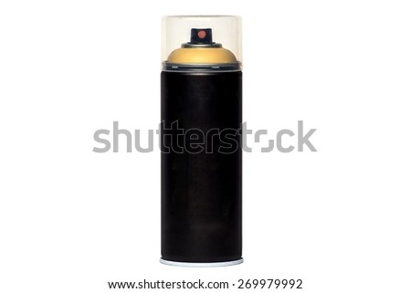 Black spray deodorant isolated on a white background - stock photo
