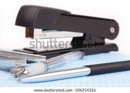 black stapler - stock photo