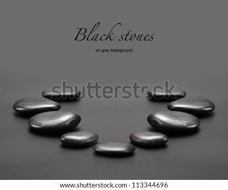 black stones - stock photo