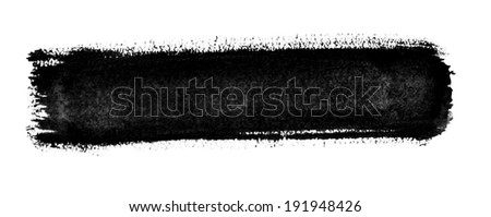 Black striped watercolor hand drawn background