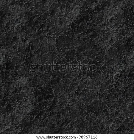 Black stucco seamless background. - stock photo