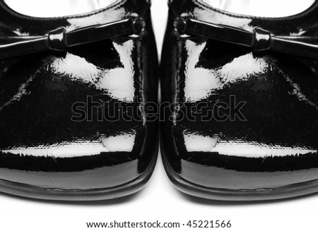 Black stylish female shoes