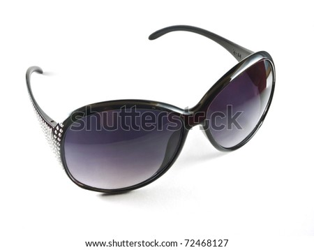 Black sunglasses isolated on the white background