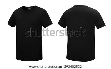 Black T-shirt - stock photo