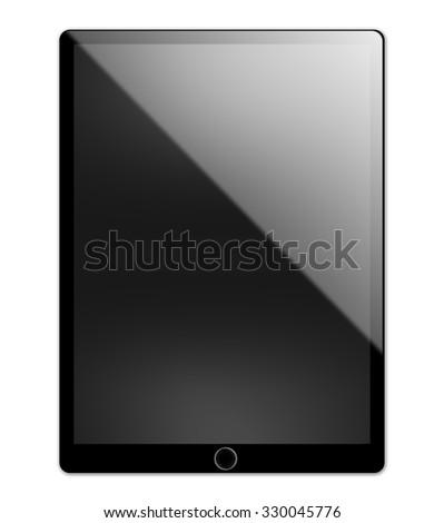 Black tablet pc - stock photo