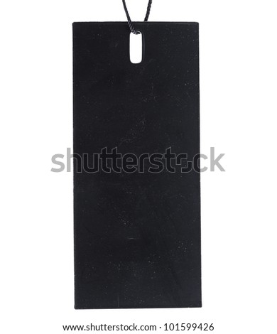Black Tag Label isolated on white background - stock photo
