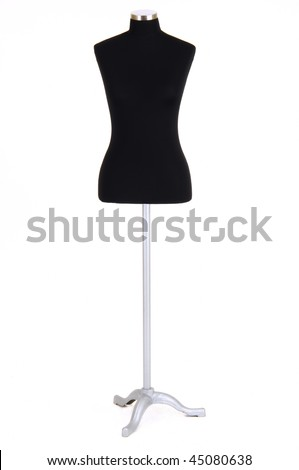 black tailor model isolated at white background