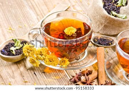 Black tea - stock photo