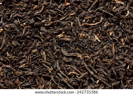 Black tea loose dry - stock photo