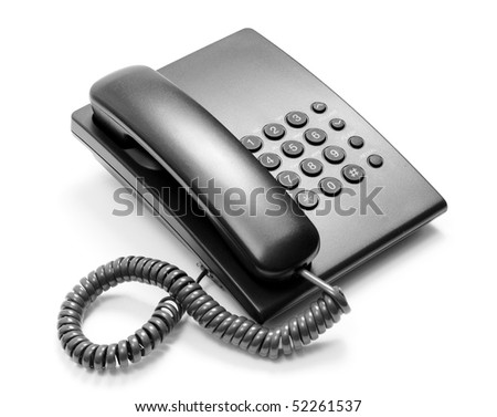 Black telephone - stock photo