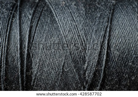 black thread as a background - stock photo