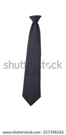 black tie on a white background - stock photo