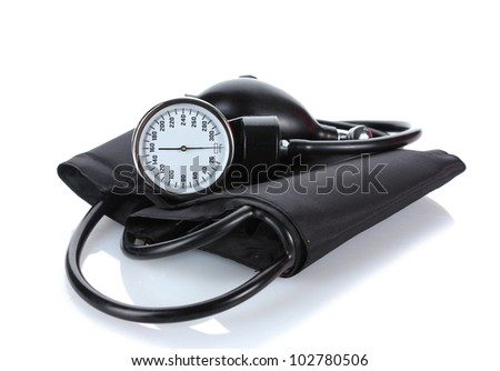 Black tonometer isolated on white - stock photo
