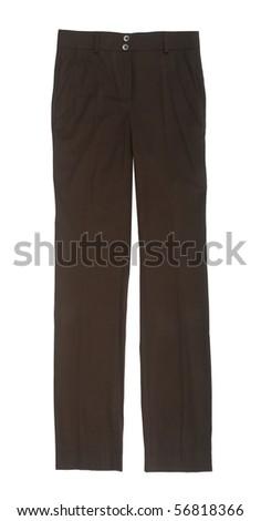 black trousers - stock photo