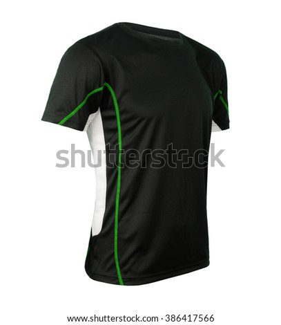 Black tshirt template - stock photo