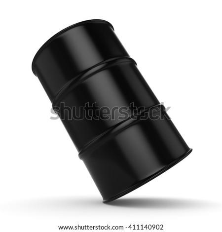 Black Untitled barrel  on a white background - stock photo