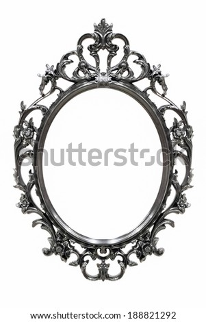 Black Vintage frame isolated on white background - stock photo