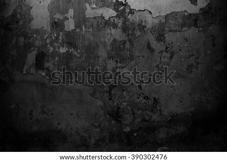 Black wall background. Grunge texture - stock photo