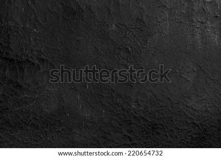 black wall cracked - stock photo