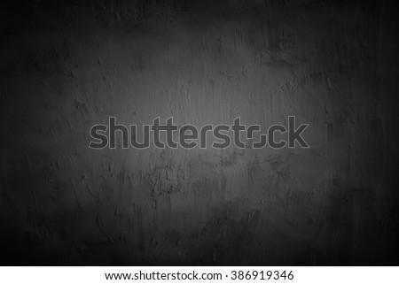 Black Wall Texture - stock photo