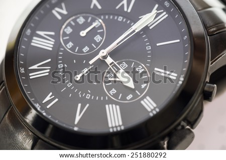 Black watch isolated on white - stock photo