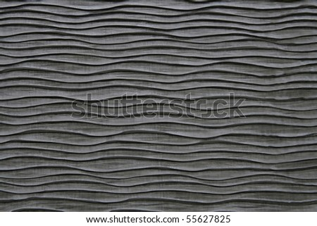 Black Wavy Cloth Texture - stock photo