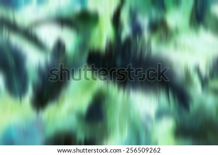 Black white azure green smudge blurred abstract background feathers like - stock photo