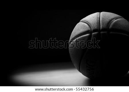 Black & White Basket Ball - stock photo