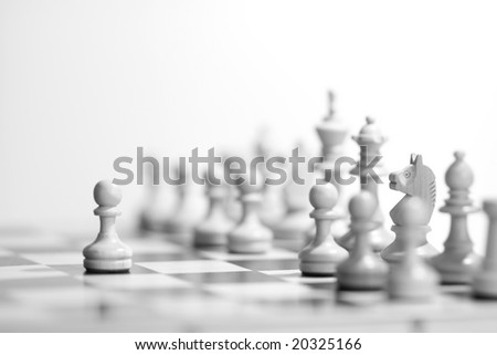 Black&White Chess - stock photo