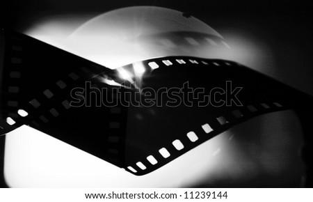 black& white film-strip - stock photo