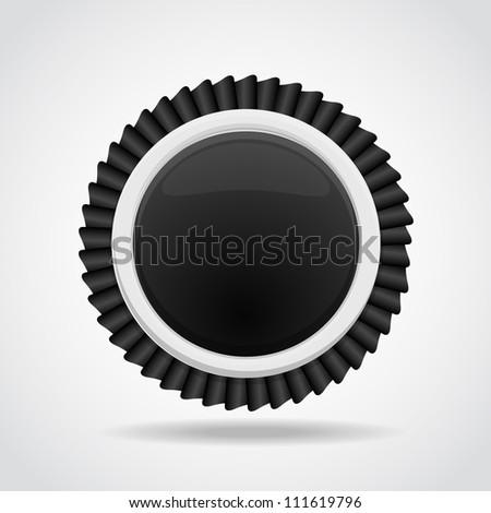 Black & White label. - stock photo