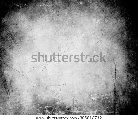 black white scratched grungy texture background - stock photo