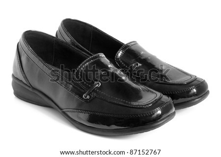 Black women shoes on a white background