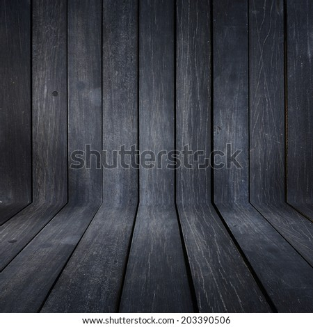black wood plank texture background